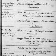 Marriage of Matthias van der Hoogt and Marijtje Molenaar